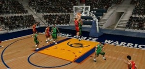 The courts are dark in NBA Live 09.