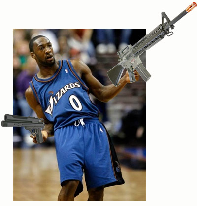 Gilbert Arenas suspended
