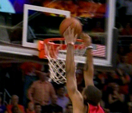 Marcus Camby missed dunk